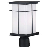 Mesa 1 Light 14 inch Textured Black Post Lantern