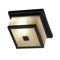 Plateau 2 Light 10 inch Oil Rubbed Bronze Flush Mount Ceiling Light