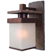 Kenroy Lighting Boulder 1 Light Outdoor Wall Lantern in Natural Slate with Copper   70281COP