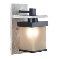 Kenroy Lighting Boulder Natural White Slate with Graphite Finish Sconces 70282GRPH