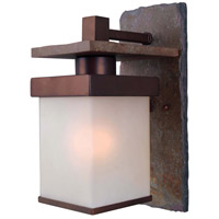 Kenroy Lighting Boulder 1 Light Outdoor Wall Lantern in Natural Slate with Copper   70283COP