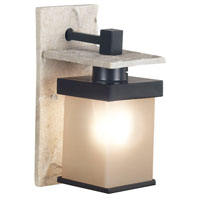 Kenroy Lighting Boulder Natural White Slate with Graphite Finish Sconces 70283GRPH