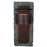Kenroy Lighting Pembrooke 1 Light Outdoor Wall Lantern in Natural Slate with Copper   70286SL