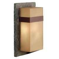 Kenroy Lighting Sacramento 1 Light Outdoor Wall Lantern in Natural Slate with Copper  Band  70506SL