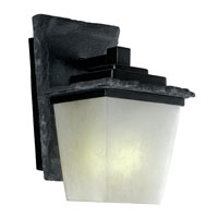 Kenroy Lighting Flintridge 1 Light Outdoor Wall Lantern in Natural Grey Slate with Distressed Black   70507SL