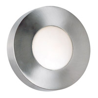 Burst 1 Light 10 inch Polished Aluminum Wall Flush Mount Wall Light, Round