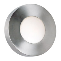 Burst 1 Light 12 inch Polished Aluminum Wall Flush Mount Wall Light, Round