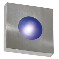 Burst 1 Light 8 inch Polished Aluminum Wall Flush Mount Wall Light, Square