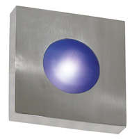 Burst 1 Light 10 inch Polished Aluminum Wall Flush Mount Wall Light, Square