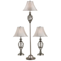 Kenroy Lighting Cerise 1 Light 3 Pack - 2 Table/1 Floor Lamps in Silver   80007SIL