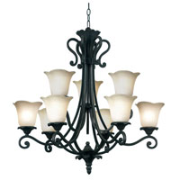 Kenroy Lighting Coronation Golden Bronze Finish Chandeliers 80289GBRZ