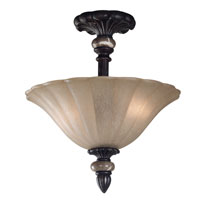 Kenroy Lighting Leafston 2 Light Semi-Flush in Mercury Bronze  with Brown Marble Accents  80290MBZ photo thumbnail