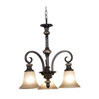 Kenroy Lighting Leafston Mercury Bronze Finish with Brown Marble Accents Chandeliers 80296MBZ photo thumbnail