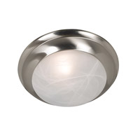 Dickens 1 Light 12 inch Brushed Steel Flush Mount Ceiling Light