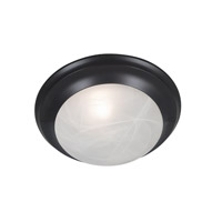 Kenroy Lighting Dickens 1 Light Flush Mount in Oil Rubbed Bronze   80360ORB