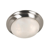 Dickens 2 Light 14 inch Brushed Steel Flush Mount Ceiling Light