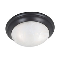 Dickens 2 Light 14 inch Oil Rubbed Bronze Flush Mount Ceiling Light
