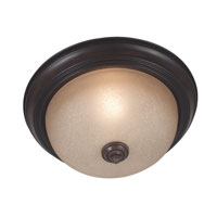 Kenroy Lighting Triomphe 1 Light Flush Mount in Cocoa   80365COCO