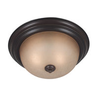 Kenroy Lighting Triomphe 2 Light Flush Mount in Cocoa   80366COCO