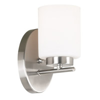 Kenroy Lighting Mezzanine 1 Light Sconce in Brushed Steel   80401BS