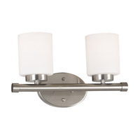 Kenroy Lighting Mezzanine 2 Light Vanity in Brushed Steel   80402BS