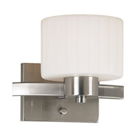 Kenroy Lighting Legacy 1 Light Sconce in Brushed Steel   80411BS