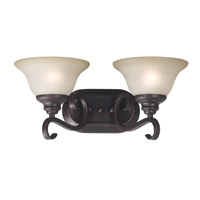 Kenroy Lighting Welles 2 Light Vanity in Oil Rubbed Bronze   80472ORB photo thumbnail