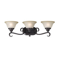 Kenroy Lighting Welles 3 Light Vanity in Oil Rubbed Bronze   80473ORB