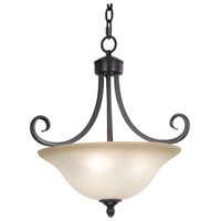 Kenroy Lighting Welles 3 Light Semi-Flush in Oil Rubbed Bronze   80474ORB