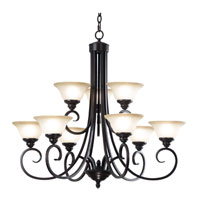 Kenroy Lighting Welles 9 Light Chandelier in Oil Rubbed Bronze   80479ORB photo thumbnail