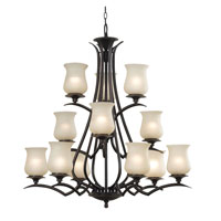 Kenroy Lighting Bienville 12 Light Chandelier in Oil Rubbed Bronze   80582ORB