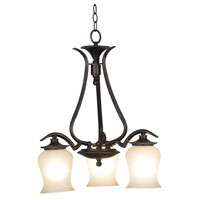 Bienville 3 Light 21 inch Oil Rubbed Bronze Chandelier Ceiling Light