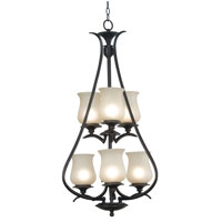 Kenroy Lighting Bienville 6 Light Foyer in Oil Rubbed Bronze   80584ORB photo thumbnail