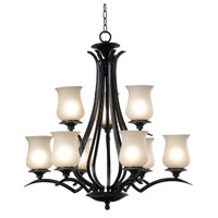Kenroy Lighting Bienville 9 Light Chandelier in Oil Rubbed Bronze   80589ORB