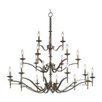 Kenroy Lighting Hastings Oxidized Brass Finish Chandeliers 90068OB