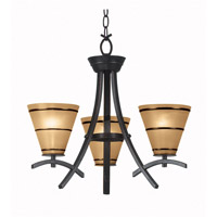 Wright 3 Light 21 inch Oil Rubbed Bronze Chandelier Ceiling Light