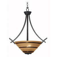 Wright 3 Light 23 inch Oil Rubbed Bronze Pendant Ceiling Light