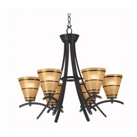 Kenroy Lighting 90086ORB Wright 6 Light 28 inch Oil Rubbed Bronze Chandelier Ceiling Light