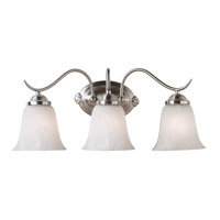 Kenroy Lighting Medusa 3 Light Vanity in Brushed Steel   90213BS