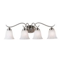 Kenroy Lighting Medusa 4 Light Vanity in Brushed Steel   90214BS