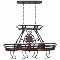 Kenroy Lighting Dorada 2 Light Pot Rack in Gilded Copper   90304GC