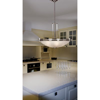 Lumen 3 Light 25 inch Brushed Steel Pendant Ceiling Light