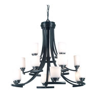 Bow 1 Light Bronze Finish Chandelier Ceiling Light