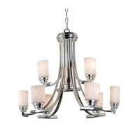 Bow 9 Light Polished Nickel Finish Chandelier Ceiling Light
