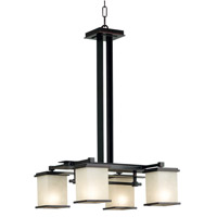 Kenroy Lighting 90383ORB Plateau 4 Light 19 inch Oil Rubbed Bronze Chandelier Ceiling Light