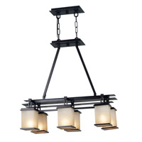 Kenroy Lighting 90386ORB Plateau 6 Light 30 inch Oil Rubbed Bronze Island Light Ceiling Light