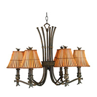 Kwai 6 Light 29 inch Bronze Heritage Chandelier Ceiling Light