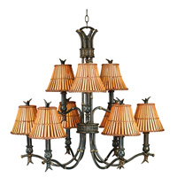 Kenroy Lighting Kwai 9 Light Chandelier in Bronze Heritage 90459BH photo thumbnail