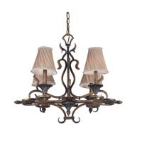 Kenroy Lighting Verona 4 Light Chandelier in Aged Golden Copper   90504AGC