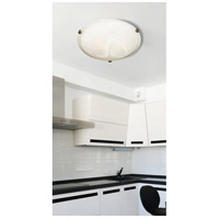 Kenroy Lighting 90671BNI Aero 3 Light 16 inch Brushed Nickel Flush Mount Ceiling Light alternative photo thumbnail